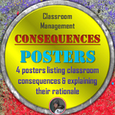 Classroom Management Consequences Posters in English and S