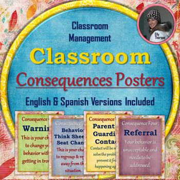 Classroom Management Consequences Posters in English and Spanish V2