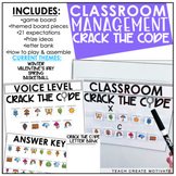 Classroom Management Crack the Code | Game | Plan