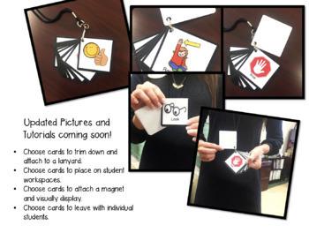 Nonverbal Response Cards (Black & White Polka Dots Edition!)