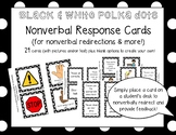 Nonverbal Response Cards (Black & White Polka Dots Edition!)