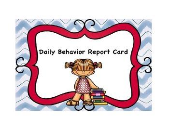 Classroom Management Daily Behavior Report Card