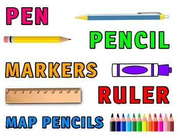 "Classroom Management Daily ""Materials Needed"" Cards for Bulletin/White Board"