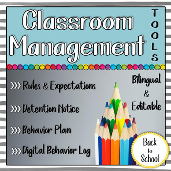 Classroom Management Resources: Detention, Behavior Plan, Tracking, and more