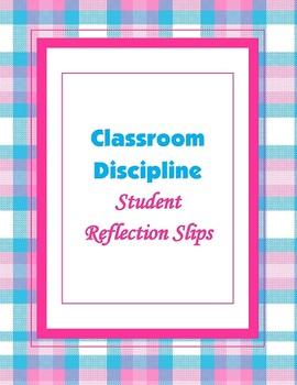 Classroom Management Discipline Slips