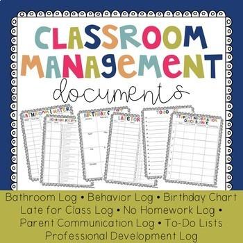 Classroom Management Documents - Bundle