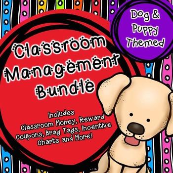 Classroom Management (Dog Themed) Classroom Money, Reward Coupons