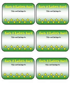 Classroom Management Earn & Return Cards