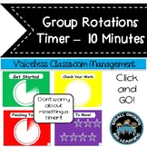 Daily Centers Countdown Timer Classroom Management- Easy Center Timer 10 Minutes