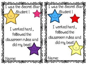 Classroom Management - FREE Secret Star Student!
