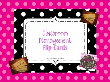 Classroom Management Flip Cards