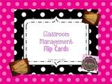 Classroom Management Flip Cards
