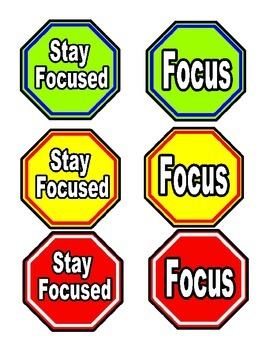 Classroom Management- Focus Signs