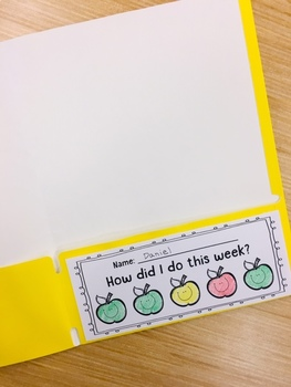 "Classroom Management Folder Slips - ""How did I do today?"" Apples!"