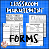 "Classroom Behavior Documents ""Classroom Management Forms"" (Back to School)"
