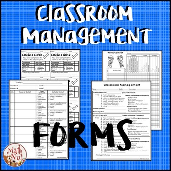 Behavior Sheets: Classroom Management Forms