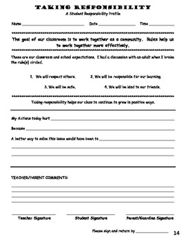 Classroom Management Forms Book