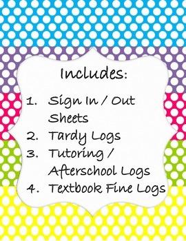 Classroom Management Forms Bundle ~ Polka Dot