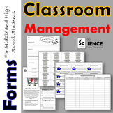 Classroom Management Forms Bundle for Middle and High School Students