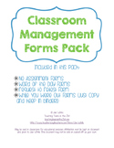 Classroom Management Forms Pack