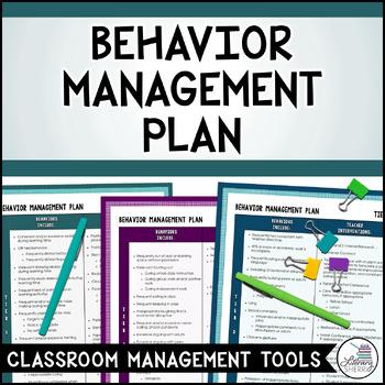 Classroom Management FourTier Behavior Management Plan By Literary