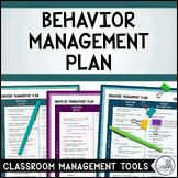 CLASSROOM MANAGEMENT: Behavior Management Plan