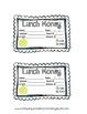 Classroom Management Freebie: Lunch Money Slips