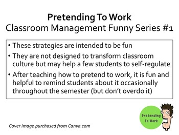 Classroom Management Funny Series #1 Pretending to Work
