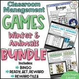 Classroom Management Games Winter & Animals BUNDLE | Plan | Rewards
