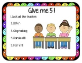 Classroom Management: Give Me 5