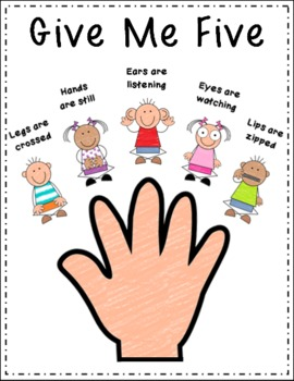 Classroom Management Give Me Five Mini Posters By D