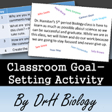 Class Goal Setting Activity for 1st Week of School