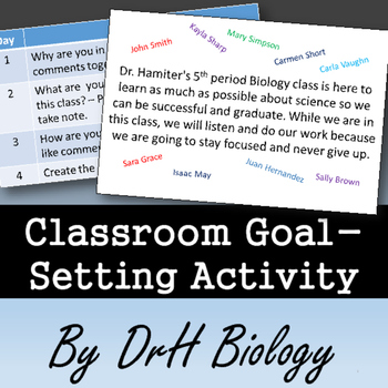 Classroom Management: Goal-Setting Activity