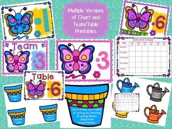 """Team Behavior Incentive Chart-""""Blooming"""" Butterfly/Flower Theme; Classroom Mgmt."""