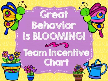 """Team Behavior Incentive Chart-""""Blooming"""" Butterfly/Flower"""