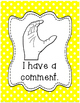 Classroom Management Hand Signal Posters - Polka Dots - Rainbow Colors