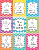 Classroom Management Hand Signal Posters - Tropical Theme
