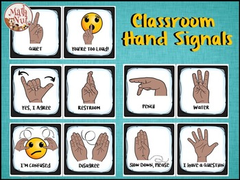 "Hand Signals Signs  ""Classroom Management"" (Back to School)"