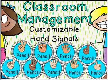 Sample Classroom Management Hand Signals Customizable