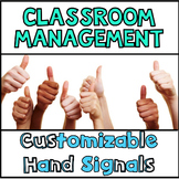 Classroom Management Hand Signals Customizable