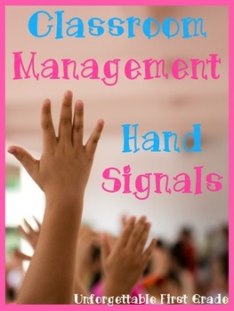 Classroom Management Hand Signal Posters