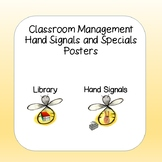 Classroom Management Hand Signals and Specials Signs/Posters