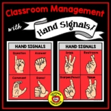 Classroom Management Hand Signals/Signs -- 10 Posters, 10 Color Choices!