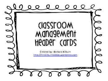Classroom Management Header Cards {FREE}