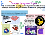 Classroom Management Helpers and Props
