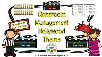 Classroom Management/Behavior Management -Hollywood Theme
