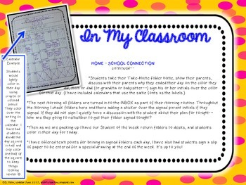 Classroom Management + Home-School Connections