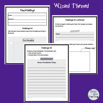 Classroom Management: House Sorting & Activity Set