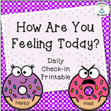 Classroom Management - How Do You Feel Today? Cards - Donuts