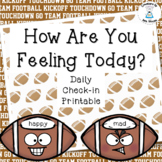Classroom Management - How Do You Feel Today? Cards - Football